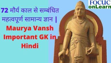 maury vansh GK in Hindi