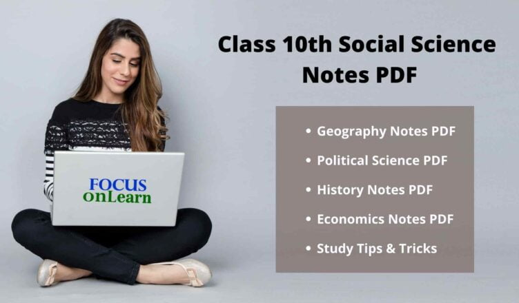 Class 10th Social Science Notes PDF