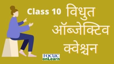 Class 10 Vidhut Objective Question Hindi