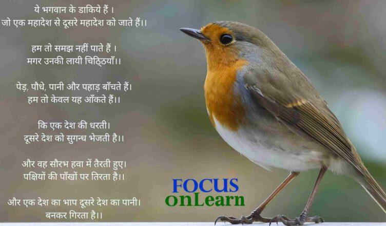 Poem on Birds in Hindi