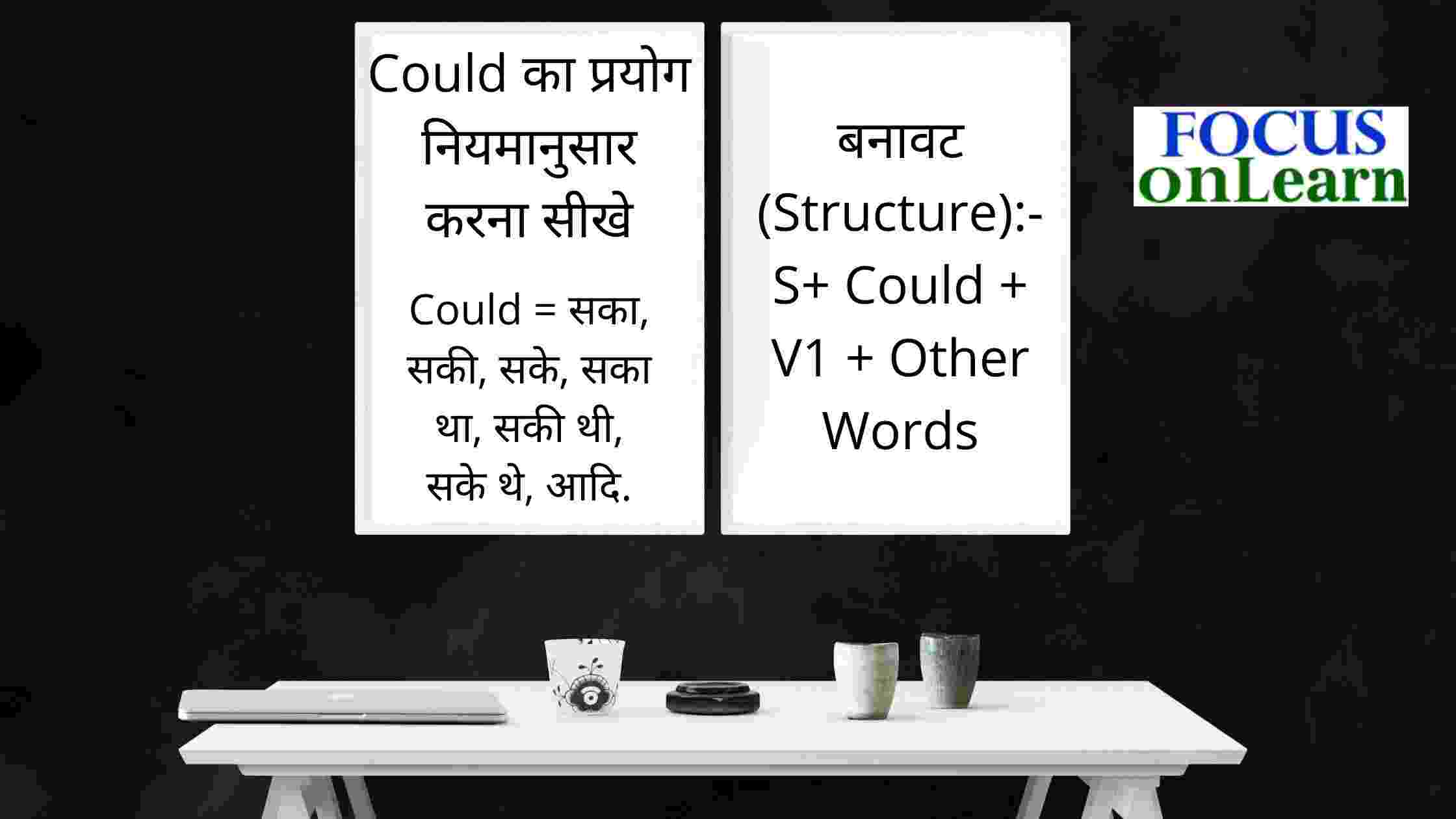 Use of Could in Hindi