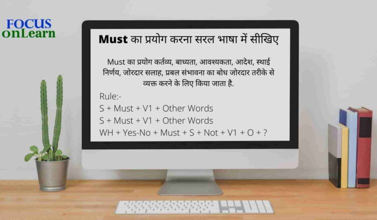 Use of Must In Hindi