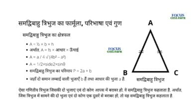 Isosceles Triangle in Hindi