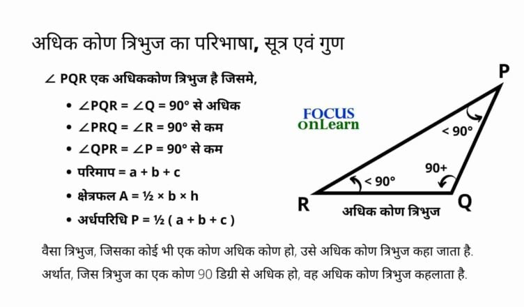 Obtuse Angle Triangle in Hindi