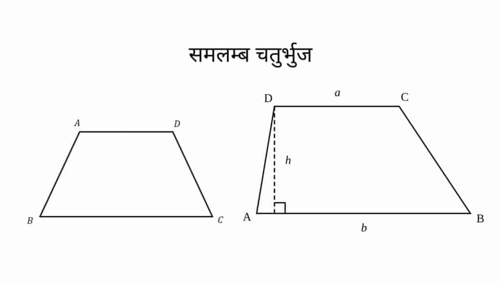 Samlamb Chaturbhuj ka Paribhasha