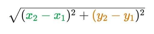 Distance Formula in Hindi