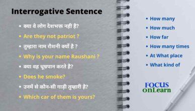 Interrogative Sentence in Hindi