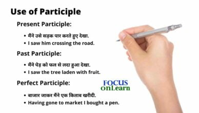 Participle in Hindi