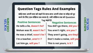 Question Tags in Hindi