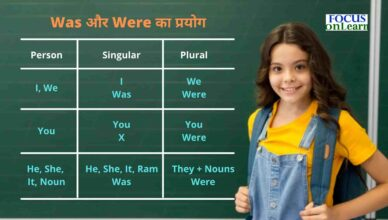 Use of Was And Were in Hindi