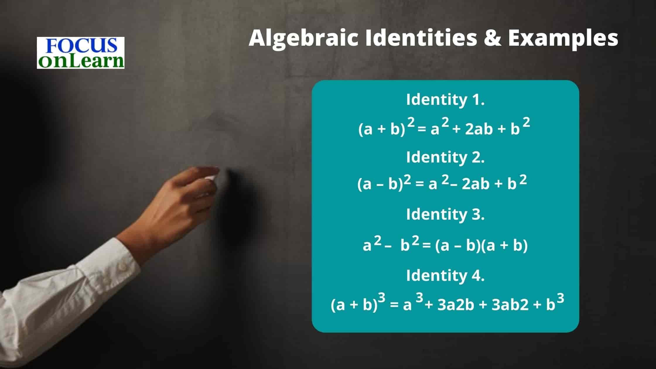 Algebraic Identities Formula in Hindi