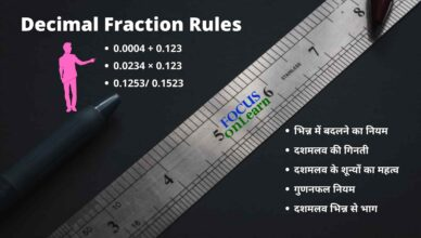 Decimal Fraction in Hindi