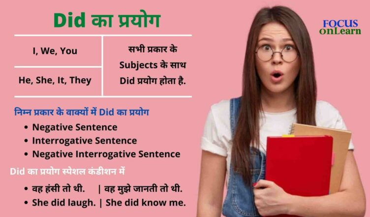Use of Did in Hindi
