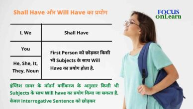 Use of Shall Have And Will Have in Hindi