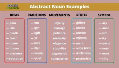 Abstract Noun in Hindi