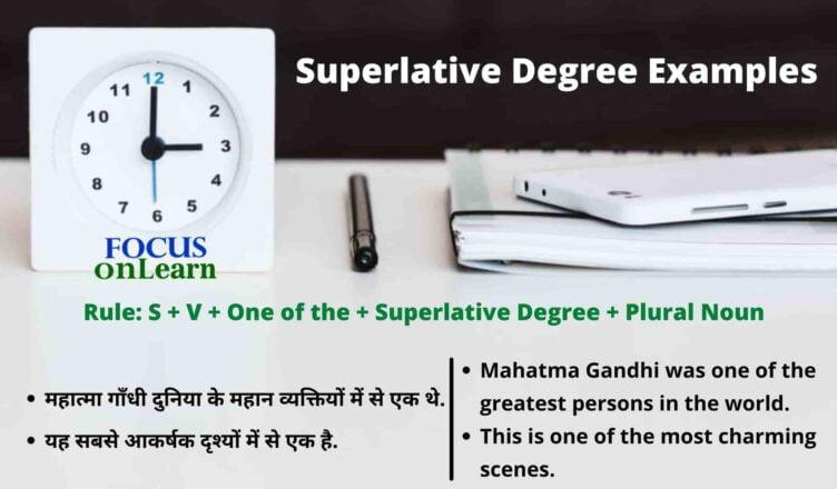 Superlative Degree Examples