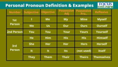 Personal Pronoun in Hindi