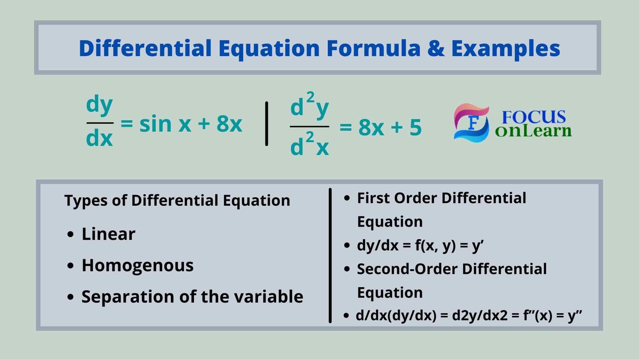 Differential Equation Formula